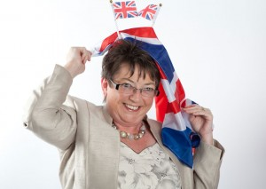 Jools flies the flag for London 2012.