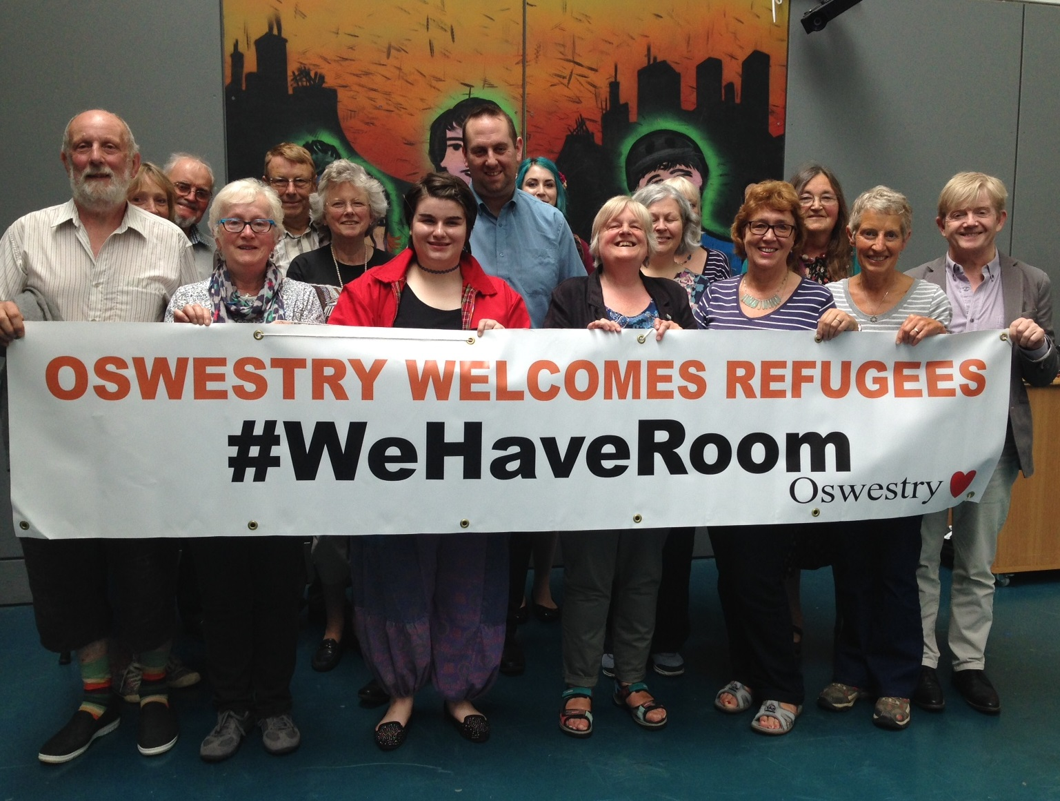 Oswestry Welcomes Refugees supporters took part in a Syrian Cultural Awareness talk at The Centre in Oak Street on Saturday 11th June