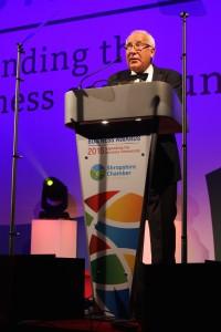 keynote speaker John Timpson CBE